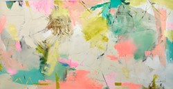 TBC II by Natasha Barnes - Original Painting on Box Canvas sized 59x30 inches. Available from Whitewall Galleries
